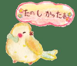 Little white bird 'SHIRO' sticker #13211636