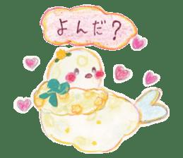 Little white bird 'SHIRO' sticker #13211638
