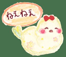 Little white bird 'SHIRO' sticker #13211639