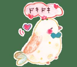 Little white bird 'SHIRO' sticker #13211658