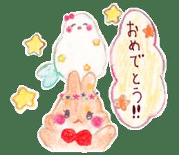 Little white bird 'SHIRO' sticker #13211662