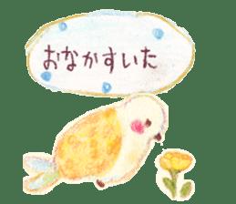 Little white bird 'SHIRO' sticker #13211664