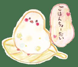 Little white bird 'SHIRO' sticker #13211665