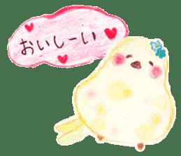 Little white bird 'SHIRO' sticker #13211666