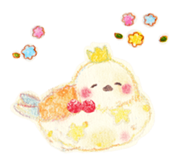 Little white bird 'SHIRO' sticker #13211667