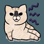 สติ๊กเกอร์ไลน์ ปูปู้วแมวหน้าบูด