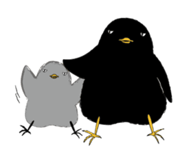 Black bird(Japanese style) sticker #13211921