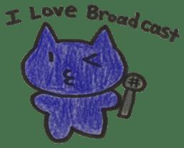broadcast cat sticker #13213150