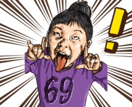 Funny Face Sisters of Japan will heal U. sticker #13216499
