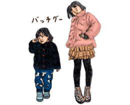 Funny Face Sisters of Japan will heal U. sticker #13216501