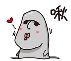 MOAI FATTY BABY sticker #13219622