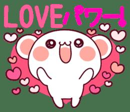 """Fluffy Bear """"I love"""" in Japanese 40set sticker #13221551"""