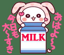 """Fluffy Bear """"I love"""" in Japanese 40set sticker #13221556"""