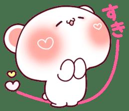 """Fluffy Bear """"I love"""" in Japanese 40set sticker #13221565"""