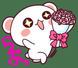 """Fluffy Bear """"I love"""" in Japanese 40set sticker #13221575"""