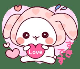 """Fluffy Bear """"I love"""" in Japanese 40set sticker #13221577"""
