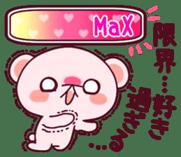 """Fluffy Bear """"I love"""" in Japanese 40set sticker #13221579"""