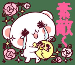 """Fluffy Bear """"I love"""" in Japanese 40set sticker #13221581"""