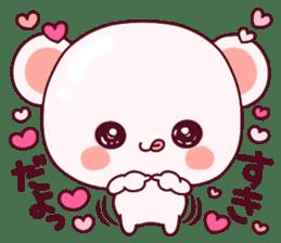 """Fluffy Bear """"I love"""" in Japanese 40set sticker #13221582"""