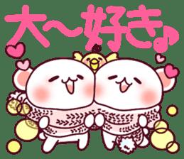 """Fluffy Bear """"I love"""" in Japanese 40set sticker #13221583"""