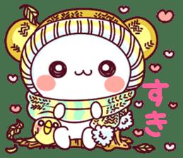 """Fluffy Bear """"I love"""" in Japanese 40set sticker #13221584"""