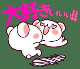 """Fluffy Bear """"I love"""" in Japanese 40set sticker #13221586"""