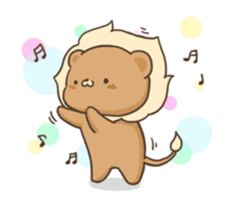 Lion and Kitty, adorable couple. sticker #13227803