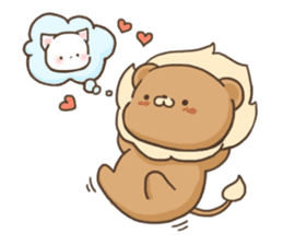 Lion and Kitty, adorable couple. sticker #13227813