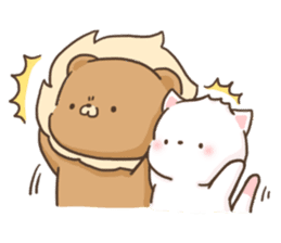 Lion and Kitty, adorable couple. sticker #13227814