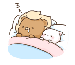 Lion and Kitty, adorable couple. sticker #13227817
