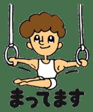 gymnastics message of Ma-kun sticker #13233868