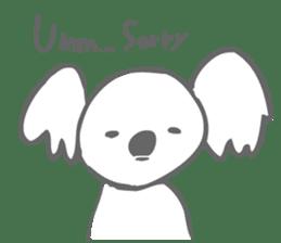 Koala feels sorry sticker #13234877