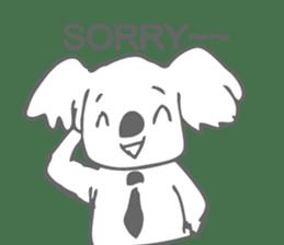 Koala feels sorry sticker #13234880