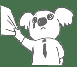 Koala feels sorry sticker #13234893