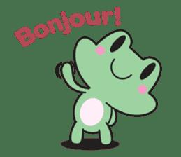 French frog sticker #13236270