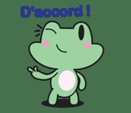 French frog sticker #13236283