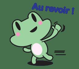 French frog sticker #13236286