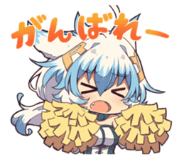 Kemomimi girl sticker sticker #13244693