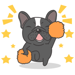 Raven the French Bulldog Animated