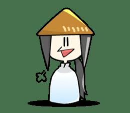 Vietnamese girl and Japanese girl 2. sticker #13269569