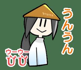 Vietnamese girl and Japanese girl 2. sticker #13269577