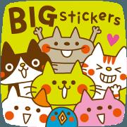 สติ๊กเกอร์ไลน์ CATS & PEACE 28 -BIG stickers-