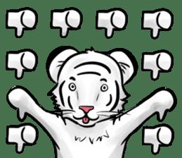 Smiling white tiger (English version) sticker #13286834