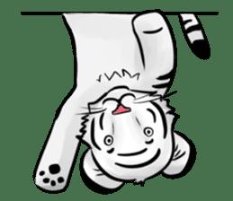 Smiling white tiger (English version) sticker #13286836