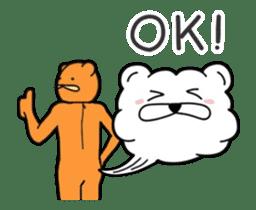 Kuma & Puu chan in the world sticker #13290074