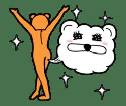 Kuma & Puu chan in the world sticker #13290078