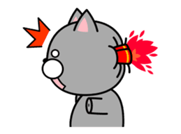 Louie cat. sticker #13293459