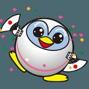 สติ๊กเกอร์ไลน์ Move! Penguin Ninja