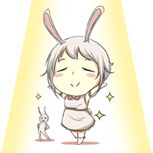 Little Bunny Girl sticker #13304815
