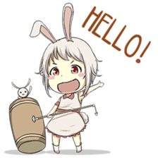 Little Bunny Girl sticker #13304826